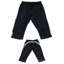 Yj-3024 Hommes Polyester Forgé Exercise Joggers Knee Shorts Half Pants