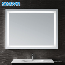 Seawin Hotel Bathroom Illuminated Rectangle Led Backlit Lighted Mirror