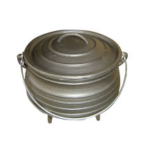 South Africa Camping Cooking Black Painting Mini Cast Iron Potejie Pot