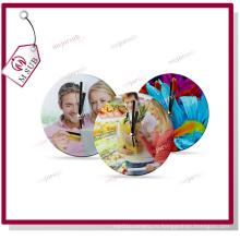 Custom сублимации стекла напечатаны круглые настенные часы