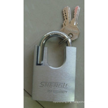 Silver Painted Shackle Protected Padlock