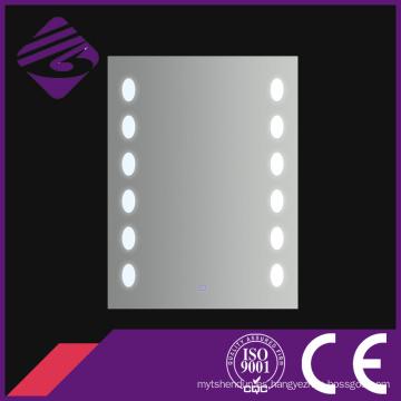 Jnh185 Cheappolished Edge Rectangle Bathroom Anti-Fog LED Mirrors