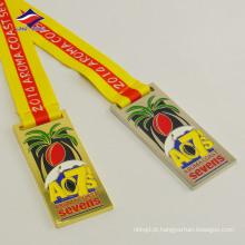 Custom tamanho lembrança decoração liga de zinco design personalizado medalha de metal