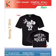 camiseta de ginástica / treinamento / corrida mma boxe camiseta esportiva moda livre
