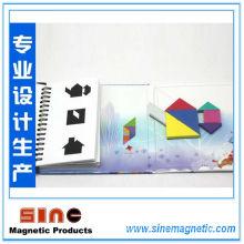 Горячая книга-Стиль магнитных Танграм головоломки мозга Дразнилку дети Монтессори Развивающие игры IQ игрушка для детей 72 вызовы