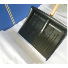 Thickened Plastic Snow Shovel with Wooden Handle (s103)