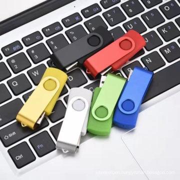 Wholesale colorful swivel custom logo USB pen drive