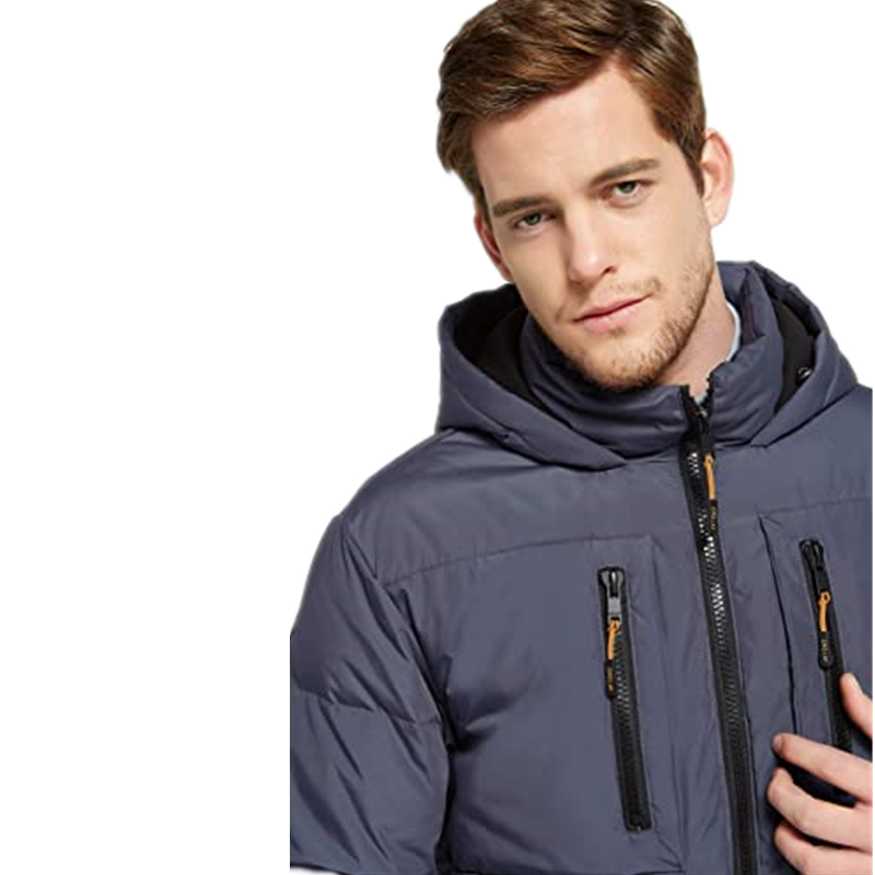Men S Thickened Down Jacket Classical Winter Hooded Coats With Multiple Pockets5