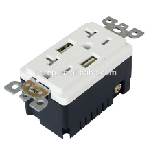 TR-BAS20-2USB UL and CUL listed RECEPTACLE with USB