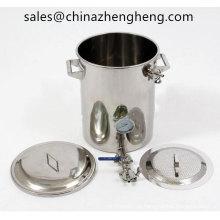 15gallon aço inoxidável Mash tun brew chaleira com falso fundo
