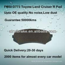 D773 hochwertiger keramischer Bremsbelag für Toyota Land Cruiser