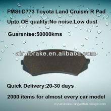 D773 high quality ceramic brake pad for Toyota Land Cruiser