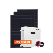 Bluesun Solar on grid 40kva 45kva 50kva solar power system set for industrial use