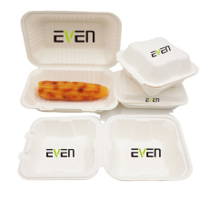 Factory Supply Natural Eco-friendly Bagasse Takeout Food Container Carryout Meal Boxes
