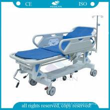 AG-HS002 civières d'hôpital d'ambulance manuelle stable d'hôpital pour des patients avec le matelas