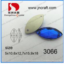 Chine Navette oeil de cheval coudre sur des perles de vêtement (DZ-3066)