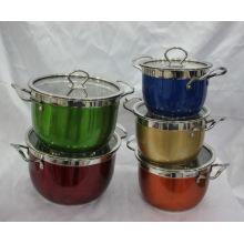 Ensemble de batterie de cuisine antiadhésive en acier inoxydable / ustensiles de cuisine en acier inoxydable