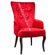 Crystal Button Dining Furniture Chair with Red Cloth (YC-F063)