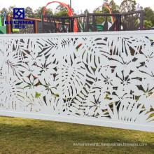 Modern Laser Cut Decorative Design Aluminum Garden Fencing