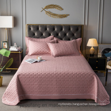Hot Sale Hotel Pink Bedspread Queen Size Lightweight All-Season