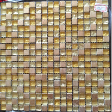 Gold Glass Tile, Crystal Glass Mosaic (HGM356)
