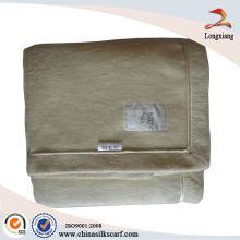 Manta de seda BeigeTussah com encadernação de seda