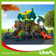 Kinder Outdoor Plastik Spielplatz Ausrüstung mit Spiral Folien, Plastik Folien Typ Outdoor Spielplatz Ausrüstung