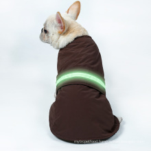 Custom lED Pet Vest Jacket Waterproof Winter Warm Clothes Dog