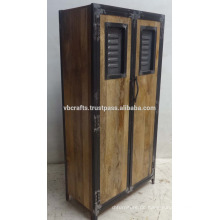 Industrial Urban Loft Wooden Metal Kleiderschrank