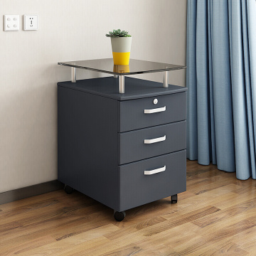 Customize Office Filing Wooden Cabinet with Wheels