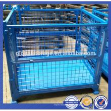 conteneur pliant empilable de maille métallique d'acier / récipient pliable en métal