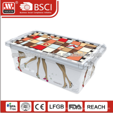 Haixing Custom Rectangle Clear PP Shoe Boxes