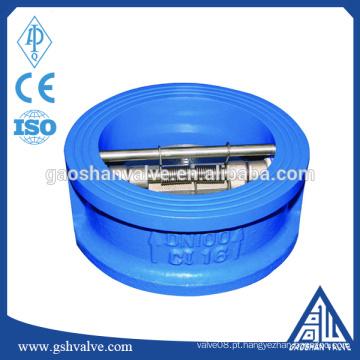 Wafer tipo abertura cheia balanço válvula de retenção