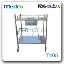 Trolley de hospital em aço inoxidável T405