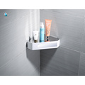 Support multifonctionnel de stockage d'angle d'étagère d'accessoires de salle de bains d'ABS blanc