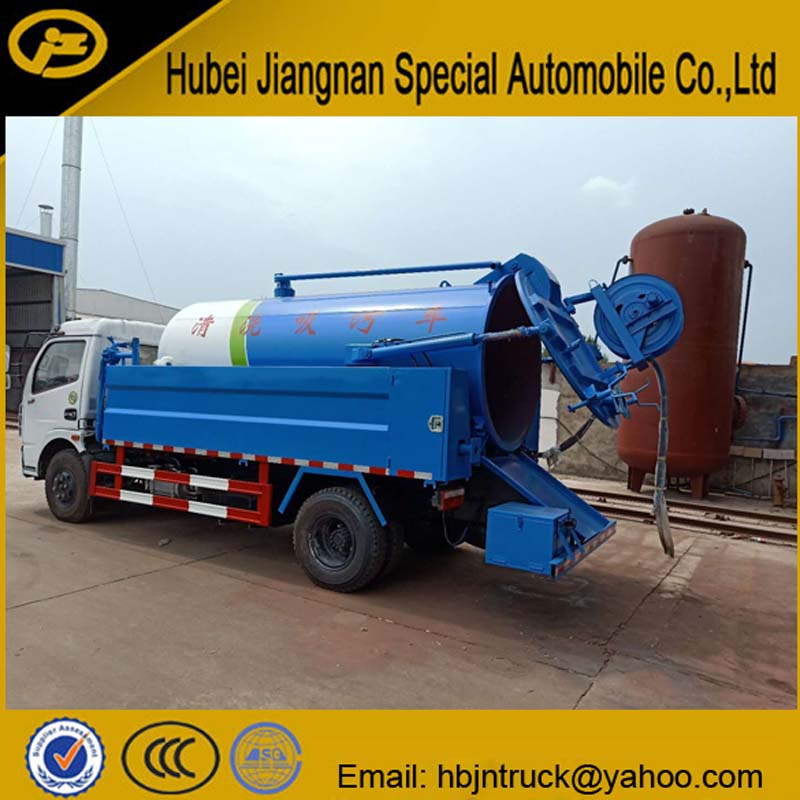 Vacuum And High Pressure Washing Truck
