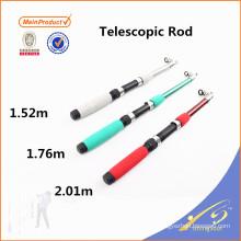 TSR067 Barato vara de pesca de fibra de vidro vara telescópica
