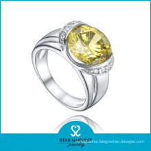 Low MOQ Topaz Silver Ring Jewellery for Lady (R-0569)