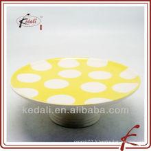 Design simple Vente en gros de porcelaine en céramique Vaisselle Assiette de gâteau