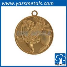 Пользовательские бесплатный дизайн медаль медаль keychain с плакировкой золота