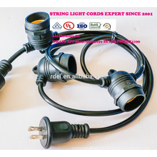 Weatherproof Outdoor String Lights - UL Listed - 15 Hanging Sockets - Perfect Patio Lights