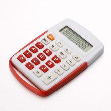 Blanca pequeña calculadora plástica