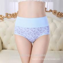 Panty de las señoras que adelgaza la ropa interior de la mujer de la ropa interior del algodón del cordón