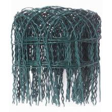 10m Length Green PVC Coated Steel Hoop Top Decorative Garden Border Fencing