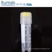 Vial criogénica de rosca externa de 2 ml con sello de arandela de silicona