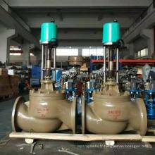 Chine fait bon marché prix de haute qualité à pourcentage égal motorisé 3 voies régulateur de gaz vanne de régulation