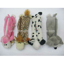 custom hot sale animal style plush pen and pencil bags for kids