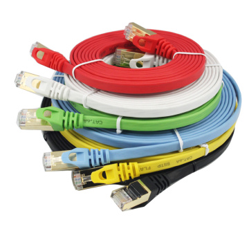 Red RJ45 Patch Cable CAT7 Plano