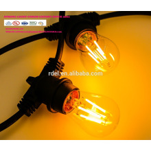 SL-50 imprägniern 15M 15 Sockel Schnur, die Handelsklasse E26 E27 Feiertags-LED Schnur-Licht beleuchtet