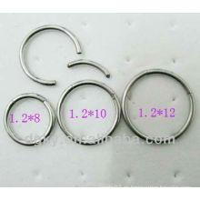 Moda Cool anillo de acero inoxidable BCR, anillo de nariz, joyería de perforación del oído